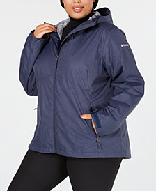 Columbia Plus Size Rainie Falls™ Waterproof Fleece-Lined Jacket