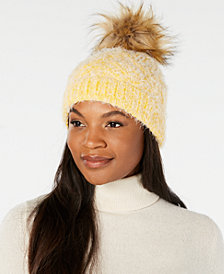 Echo Fuzzy Cable-Knit Pom Pom Hat, Created for Macy's