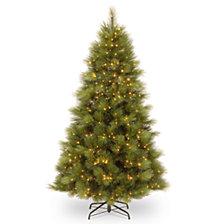 National Tree 7 .5' Arcadia Pine Hinged Tree with 650 Clear Lights