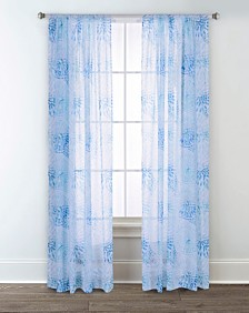 Sara B Sundial Printed Sheer Curtain Panel Set, 84 in