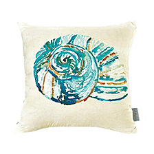 Sara B Conch Shell Square Accent Pillow