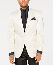Sean John Men's Classic-Fit White Solid Tuxedo Jacket