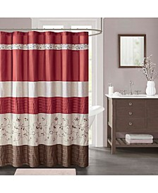 "Serene Embroidered 72"" x 72"" Faux-Silk Shower Curtain, Created for Macy's"