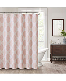 "Décor Studio Naples 72"" x 72"" Faux-Linen Shower Curtain"