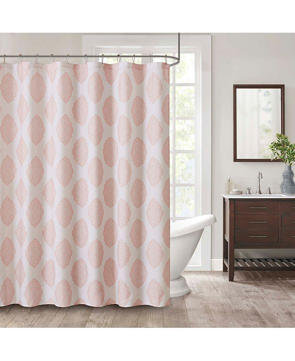 """JLA Home Naples 72"""" x 72"""" Faux-Linen Shower Curtain"""