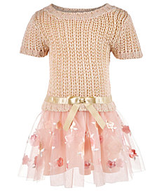 Blueberi Boulevard Baby Girls Sweater Dress