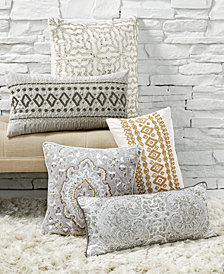 Lacourte Neutral Bling Decorative Pillow Collection, Created for Macy's