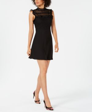 Image of 19 Cooper Lace-Trim Fit & Flare Dress