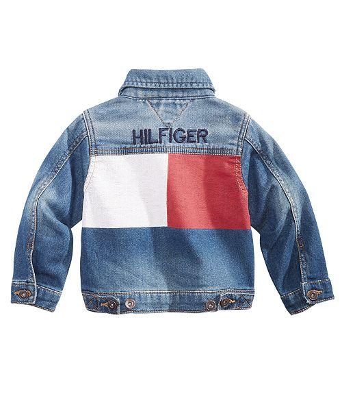 2a18e609a362 Tommy Hilfiger Baby Boys Logo Denim Jacket   Reviews - Coats ...