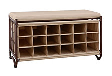 Organize it All Shoe Rack with Bench