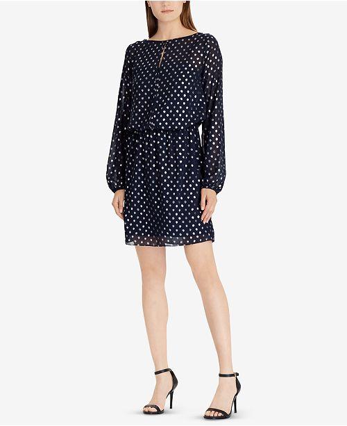 7de6f6afa3833 Metallic Dot-Print Dress