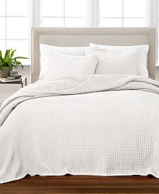 Martha Stewart Collection Waffle Oversized Blanket and Sham Collection, Created for Macy's