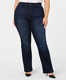 Celebrity Pink Trendy Plus Size Boot-Cut Jeans