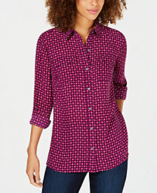 Charter Club Graphic-Print Blouse, Created for Macy's