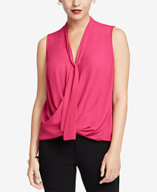 RACHEL Rachel Roy Beckett Solid Tie-Neck Blouse