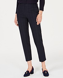 Petite Plaid Ankle-Length Pants, Created for Macy's