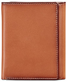 Perry Ellis Portfolio Men's Leather Gramercy Slim Trifold Wallet