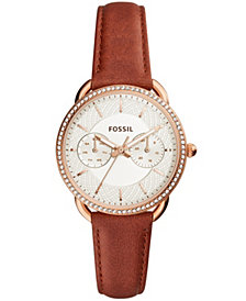 Fossil Women's Tailor Terracotta Leather Strap Watch 35mm