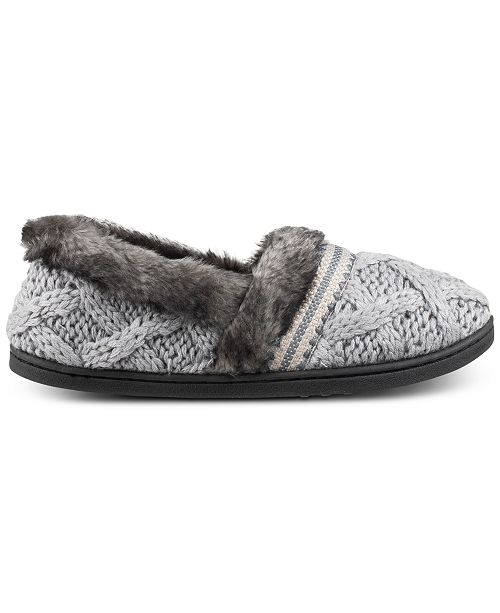 203184f335 ... Isotoner Signature Trellis Tessa Sweater-Knit Slippers with Memory Foam  ...