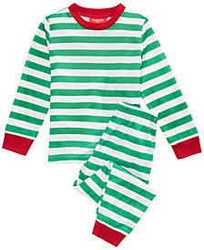 Matching Family Pajamas Holiday Stripe Pajama Set, Available in Toddler and Kids, Created For Macy's