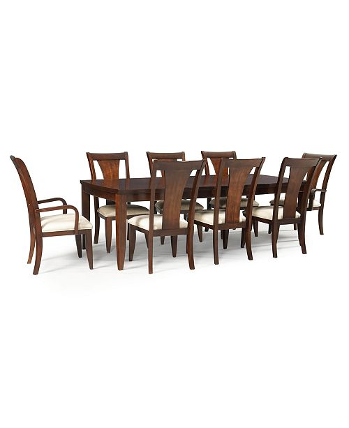 Metropolitan Contemporary 9 Piece Dining Table 6 Side Chairs