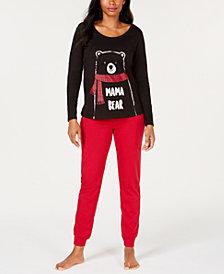 Matching Family Pajamas Women's Mama Bear Pajama Set, Created for Macy's