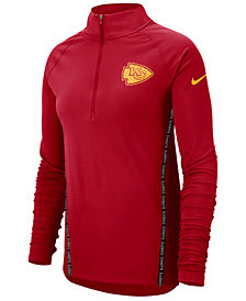 Nike Women's Kansas City Chiefs Element Core Quarter-Zip Pullover