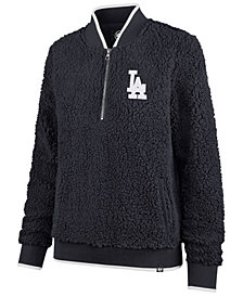 '47 Brand Women's Los Angeles Dodgers Sherpa Quarter-Zip Pullover