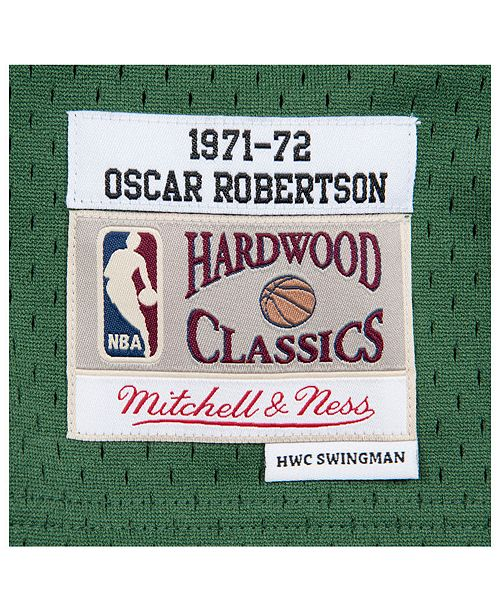d6be4692bcf Mitchell   Ness Men s Oscar Robertson Milwaukee Bucks Hardwood Classic  Swingman Jersey ...