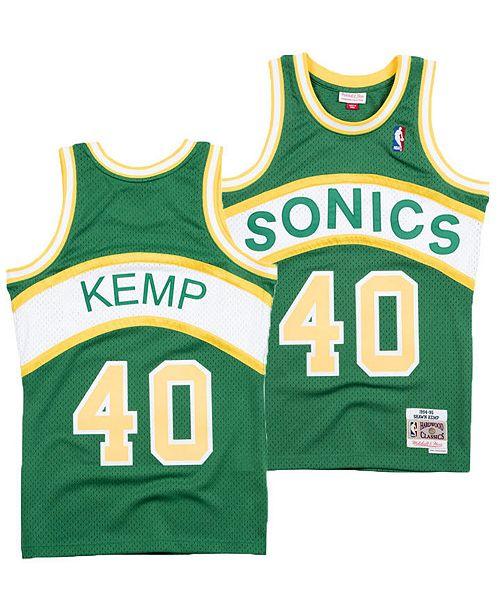6ce8fe0d956 Mitchell   Ness Men s Shawn Kemp Seattle SuperSonics Hardwood Classic  Swingman Jersey ...