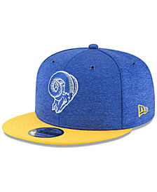 New Era Los Angeles Rams On Field Sideline Home 9FIFTY Snapback Cap