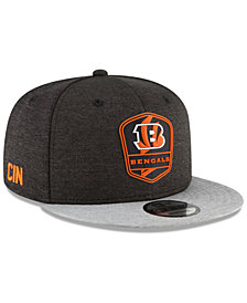 New Era Cincinnati Bengals On Field Sideline Road 9FIFTY Snapback Cap