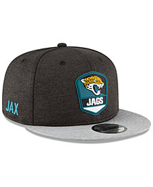 New Era Jacksonville Jaguars On Field Sideline Road 9FIFTY Snapback Cap