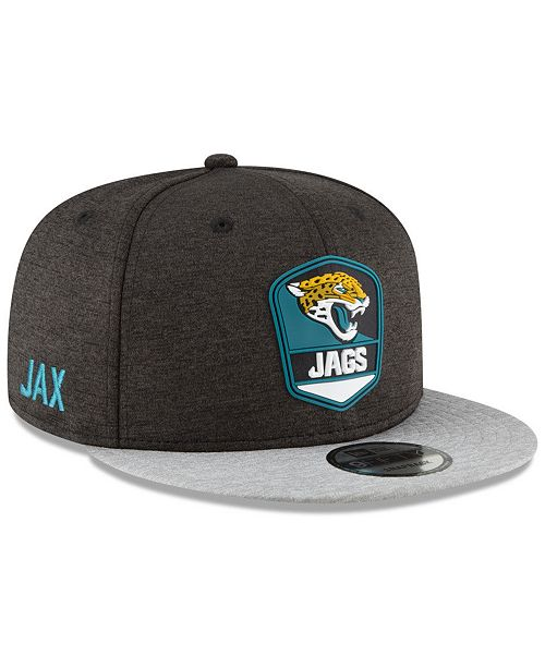 dff0d6282aa New Era Jacksonville Jaguars On Field Sideline Road 9FIFTY Snapback ...