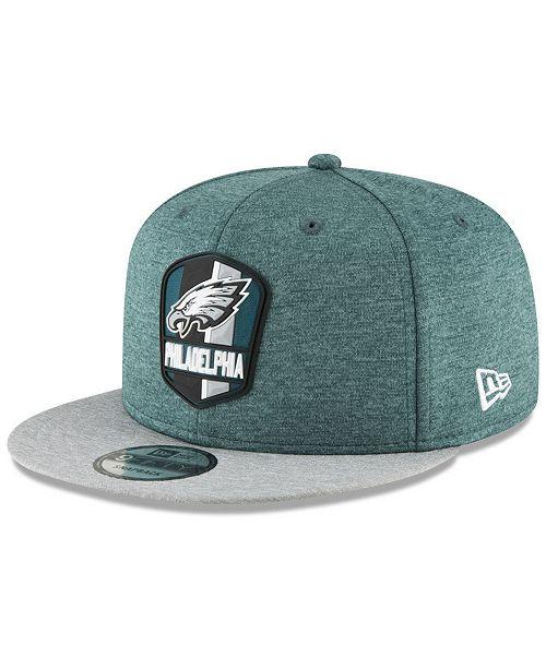 New Era Philadelphia Eagles On Field Sideline Road 9FIFTY Snapback Cap