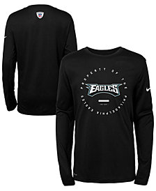 Nike Philadelphia Eagles Prop Of Long Sleeve T-Shirt, Big Boys (8-20)