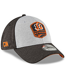 New Era Cincinnati Bengals On Field Sideline Road 39THIRTY Stretch Fitted Cap