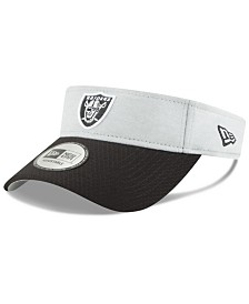 New Era Oakland Raiders On Field Sideline Visor