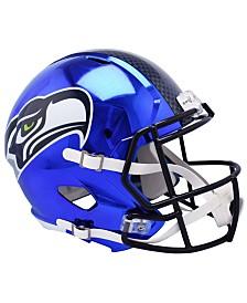 Riddell Seattle Seahawks Speed Chrome Alt Replica Helmet