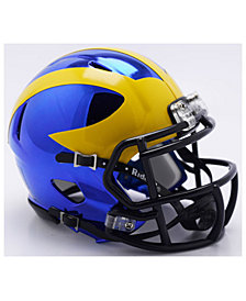 Riddell Michigan Wolverines Speed Chrome Alt Mini Helmet