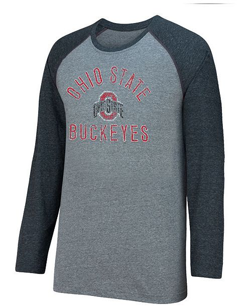 separation shoes f20c8 7ab79 Top of the World Men s Ohio State Buckeyes Triple A Raglan T-Shirt ...
