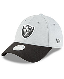 New Era Women's Oakland Raiders On Field Sideline Home 9FORTY Strapback Cap
