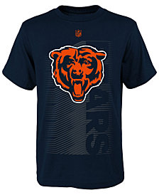 Outerstuff Chicago Bears Poly Jump Speed T-Shirt, Big Boys (8-20)