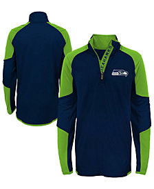 Outerstuff Seattle Seahawks Beta Quarter-Zip Top, Big Boys (8-20)