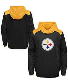 Outerstuff Pittsburgh Steelers Off The Grid Hoodie, Big Boys (4-7)