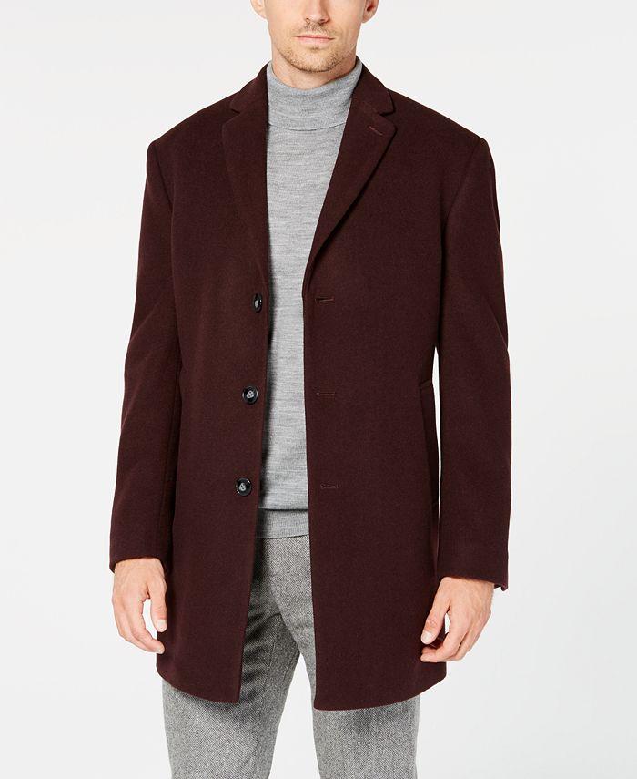 Calvin Klein - Men's Prosper Extra-Slim Fit Overcoat