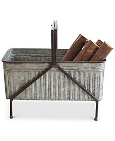 Iron Planter on Stand with Handle