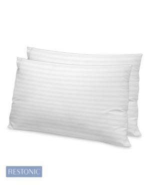 Restonic 2 Pack Luxury 500 Tc Memory Fiber King Pillow