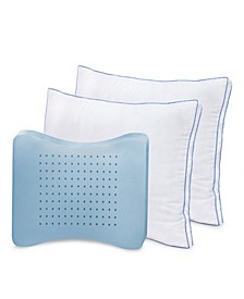 2 Pack MemoryLoft Deluxe Gusseted Pillow