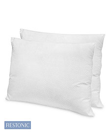 Restonic 2 Pack Hotel Quality Gel Fiber Pillow